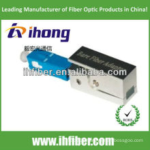 sc/pc bare fiber adapter square type with metal housing