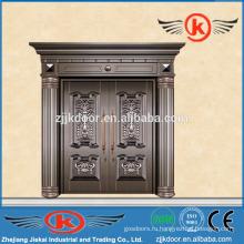 JK-C9023 внешняя античная бронзовая медная главная дверь для виллы