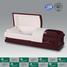 LUXES Style américain remarquable crémation cercueil ouvert cercueils