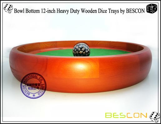 Bowl Bottom 12-inch Heavy Duty Wooden Dice Trays by BESCON-5