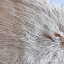 Tecido de pele artificial com longas pelúcia