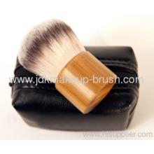 Synthetic Hair Kabuki Brush With Bamboo Handle And Mini Bag