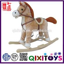 Venda quente brinquedo de pelúcia criança brinquedo cavalo de balanço