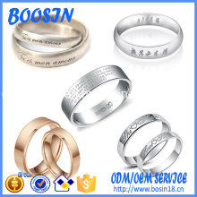 Wholesale Factory 925 Silver Ring with Custom Name Engraved
