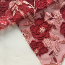 Chiffon Laser Cut Embroidery Fabric On Poly Mesh