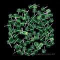 4.8mm grüne Strohhut LED Beleuchtung Diode