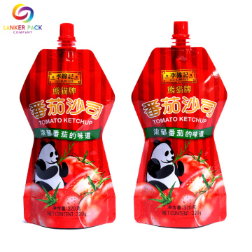 Custom Printed Plastic Couch Packaging Spout Pouches