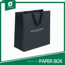 Bolsa de papel negra de encargo de la buena calidad de la venta caliente