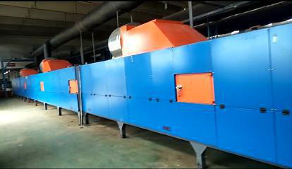 vulcanizing and foaming furnace for pipes and sheets