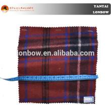 Tela escocesa de tartán de tendencia 80% lana 20% tela de nylon para la ropa