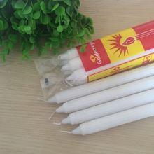 White Paraffin Wax Pillar Velas Fluted Candles