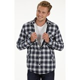 Men's Long Sleeve Double Pocket Casual Check Shirt