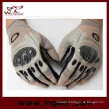 Doigt complet Airsoft tactique carbone Knuckle gants de sécurité