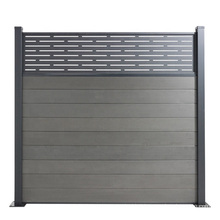 Eco Friendly Aluminum Frame Side Cover Post Wood Plastic Composite Construction Fence Board Price Fence WPC Fencing Trellis
