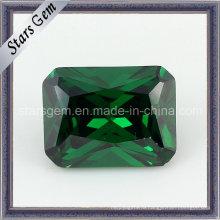 6 * 8mm Горячий изумрудный цвет синтетический диамант