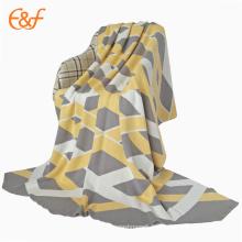Couverture de couverture 100% coton tricotée jacquard