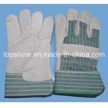 De alta calidad de seguridad industrial de cuero de vaca de cuero dividido trabajo de los guantes