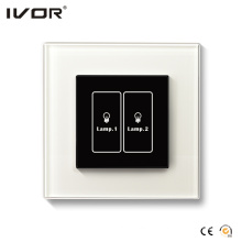2 Gangs Lighting Switch Touch Panel Glass Outline Frame (HR1000-GL-L2)
