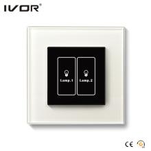 Quadro do esboço do vidro do painel de toque do interruptor da iluminação de 2 grupos (HR1000-GL-L2)