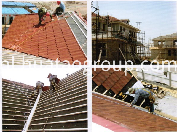 roof tile install