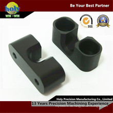 CNC-Bearbeitungsprozess Aluminium elektronische Komponenten mit schwarz eloxiertem Finish