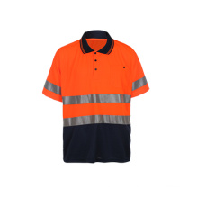 Hoch sichtbares Sicherheits-Polo-Shirt
