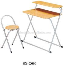 Mesa de estudo infantil e mesa de computador de cadeira 1 + 1set