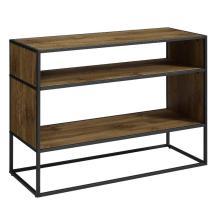 Horizontal Wood Bookcase metal frame design