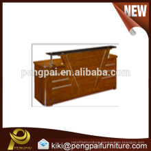 Factory Price New Design Wooden Reception Counter Table for sale