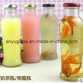 Bouteilles à boisson en verre Bouteilles à jus de verre avec couvercle