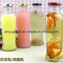 Botellas de vidrio para bebidas Botellas de vidrio para jugo con tapa