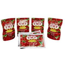 Pâte de tomate concentrée double de haute qualité de vente chaude avec le sachet de 70g