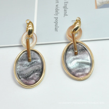 Stainless steel clip on galaxy earring for women newest gold statement earrings
