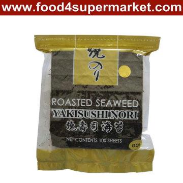 Roasted Yaki Sushi Nori 50 Sheets Green Grade