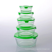 Promotional Five Glass Bowl Set with Lid
