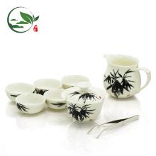 Juego de regalo chino Juego de té, 6 pares de tazas para beber y olfatear + Tetera + Jarra + Tazón de té Gongfu