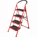 household iron step ladder 4 steps retraactable stepladder kitchen stool lidl