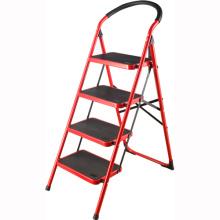 Haushaltseilleiter Leiter 4 Stufen nachziehbare Trittleiter Küchenhocker lidl
