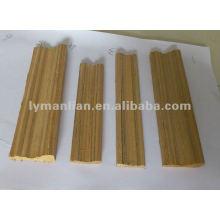 Bordes de madera de teca para la decoración del hogar.