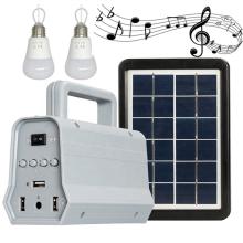 Portable mini solar power lighting system