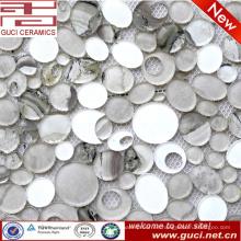 Pared de la cocina de la fabricación de China mezcló las tejas de cristal de mosaico en acrílico