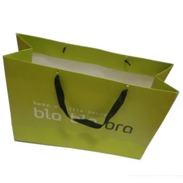Printed Paper Shopping Bag with Handle Band