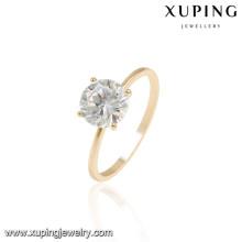 13931 Xuping elegantes anillos de dedo de boda chapados en oro