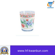 High Quality Glass Tea Cup with Printing Tableware Kb-Hn0753