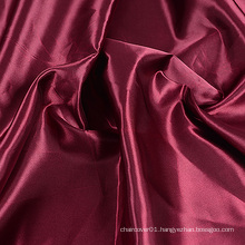 Burgundy Color Cheap Satin Fabric