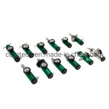 0-25lpm Mini Oxygen Regulator with Brass Sleeve, 870 Cga Connection