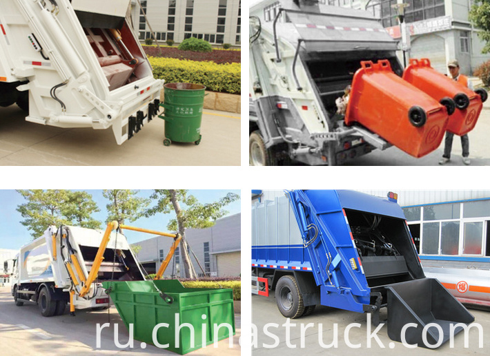 Kinds of compressed garbage truck show