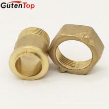 LB Guten top 3/4 cabeça Hexágono latão Conector do Medidor de Água forjado O-Ring acessórios para tubos de água de latão