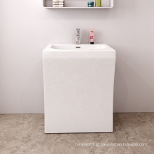 Wholesale hotel quadrado branco luxo banheiro lavatório