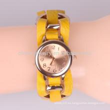 Mano-tejida anillo de metal reloj pulsera Relojes de señora relojes de estudiante BWL040